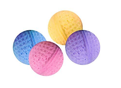 Karlie Gato Toy 4 Bolas de Esponja de 4 cm de diámetro, Bolas de Esponja de Colores Surtidos, 4 Unidades