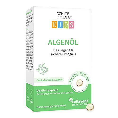 NEUEINFÜHRUNG – Algenöl Kapseln für Kinder – veganes Omega-3 – ohne Carrageen – 330 mg DHA aus Algen – 90 Mini-Kapseln