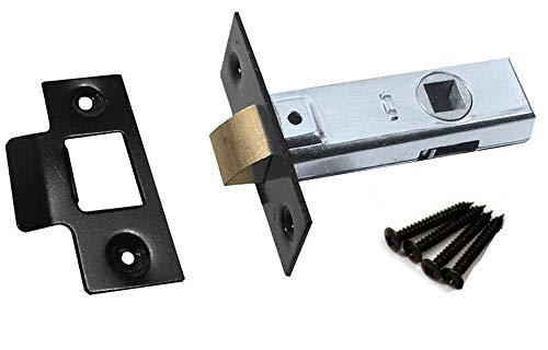 Door Latches Tubular Mortice Fit 76mm - Black Finish (76mm Case Size)