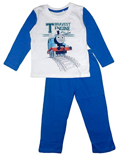 Thomas and Friends Kinder Baumwoll Langarmpyjamas (Blau, 8 Jahre)