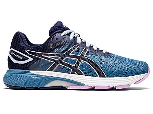 ASICS Women's GT-4000 2 Running Shoes, 8.5M, Grey Floss/Peacoat