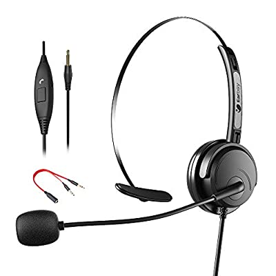 Amazon - Save 60%: Earbay 3.5mm Headset with Microphone, Headphone for PC Smartphone Table…