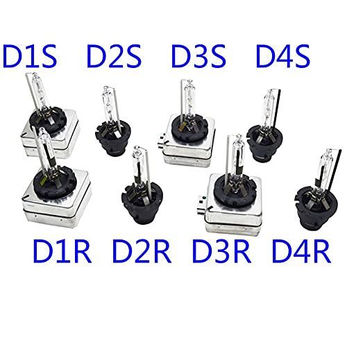 LTH-GD Herramientas neumáticas 2 unids HID Xenon Bulb Bombilla Bombilla Bombilla Amarillo Azul Auto Xenon Lámpara D1 D 12V 35W D1S DS1 D2S DS2 D3S D4S 4300K 6000K 8000K Herramienta de reparacion