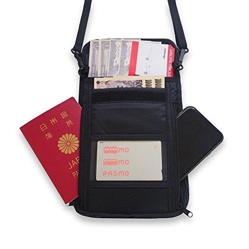 11Straps トラベルポーチ パスポートケース ネックホルダー 防犯 セキュリティー(黒)