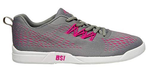 BSI Women's Sport Bowling Shoe, Gray/Pink, 5.5