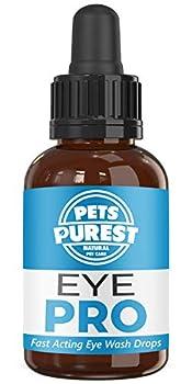 """DES INGRÉDIENTS 100% NATURELS : Le produit Pets Purest Eye PRO Wash ne contient pas d'ingrédients synthétiques déguisés en """"dérivés naturels"""" ni de chlorite de sodium, qui est utilisé dans le BLANCHIMENT. Notre produit est 100% naturel. C'est simple...."""
