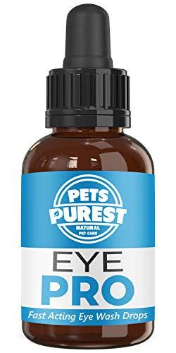 Pets Purest 100% natürliche Augentropfen für Hunde, Katzen & Haustiere - Leistungsstarke & schnell wirkende Augentropfen für juckende, gereizte, wässrige Augen - 1-2 Jahre Vorrat