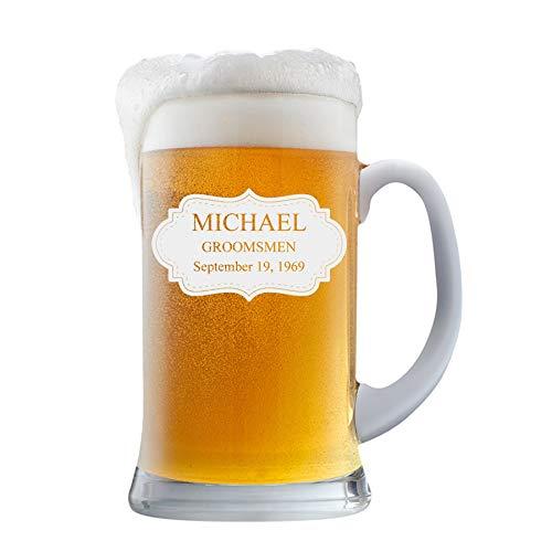 PersonalizedBeer Glass - Custom Engraved Beer Mug   Add your own Engraved Text - Board Design (Beer Mug 16oz)