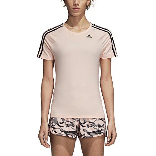 adidas Damen Training Designed-2-move 3 Stripes Tee kurzärmelig, Clear Orange, XX-Large