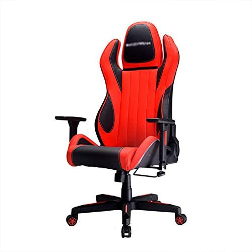 HXJU Silla de juegos, silla de oficina, silla de escritorio, ergonómica, de piel sintética, silla de ordenador ejecutiva para mujeres y hombres