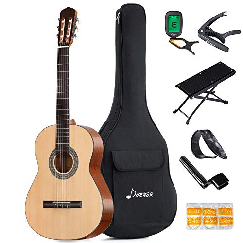 Donner DCG-1 39 Inch Full-size Classical Acoustic Guitar Spruce Mahogany Body