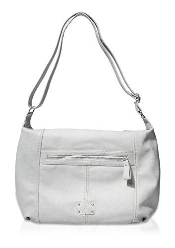 s.Oliver Shoulder Bag, Borsa a Spalla Donna, Grigio (Grau (Silver Grey 9025)), 33x31x12 cm (B x H x T)