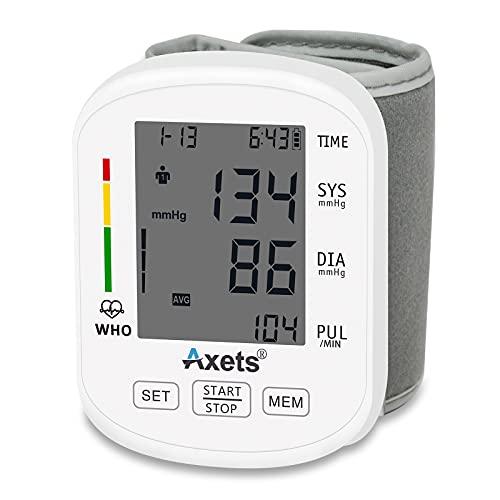 Automatisches digitales Handgelenk-Blutdruckmessgerät, unregelmäßiger Herztest,2 x 99 Speicher, großes LED-Display für Zuhause, CE-Zertifizierung
