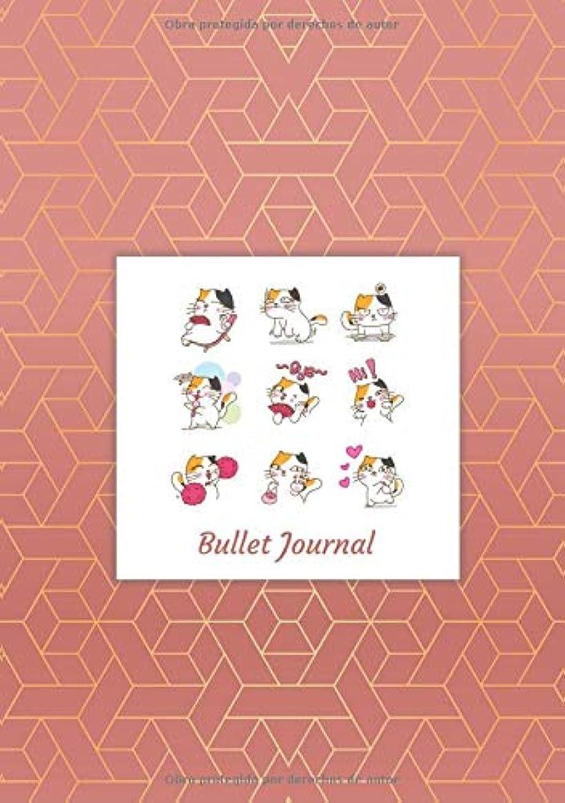 今までドール航空便Bullet Journal: Cuaderno Punteado A5 - para Tomar Notas, Lettering, Caligrafía, Bocetos (Dise?o de Kawaii)