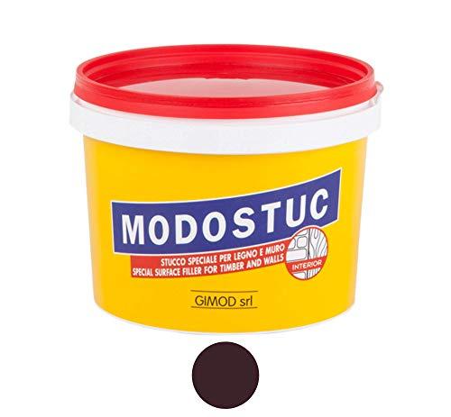 Original MODOSTUC Holzkitt 1kg Ebenholz Gebrauchsfertige Füllmasse für Holz & Wand, Holz-Spachtelmasse, Perfekte Klebefestigkeit & Schnell Trocknend, Ideal zum Reparieren von Holzschäden