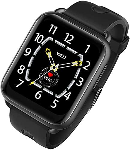 X&Z-XAOY Smart Watch Health Fitness Activity Tracker IP68 Natación Impermeable SmartWatch Pulsera Temperatura Reloj para Hombres/Mujeres (Color : Black)