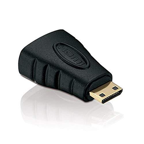 HDSupply HA030 Adaptateur Mini HDMI - HDMI (Mini HDMI C mâle (19pol) vers HDMI A femelle (19pol)), noir