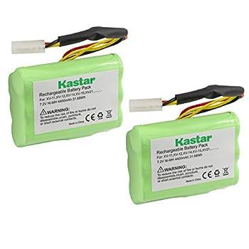 Kastar XV11 Battery  2 Pack  Ni-MH 7.2V 4400mAh Replacement for Neato XV-11 XV-12 XV-14 XV-15 XV-21 XV-25 XV Essential XV Signature Pro Robotic Vacuum Cleaners Neato Battery 945-0005 205-0001