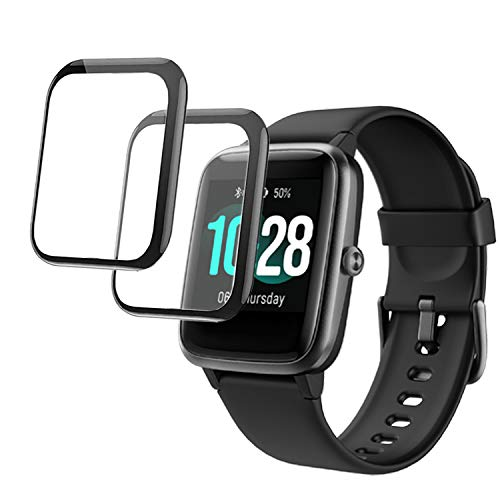 smaate 3D Screen Protector Only compatible with Veryfitpro ID205L ID205 ID205U ID205G Smart Watch and compatible with Letsfit EW1, 2-PACK, Full Coverage Curved Edge frame, Anti-Scratch ID205LPTR01