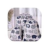 Bolsa de compras casual de algodón con cordón ajustable, reutilizable, plegable, para viajes, casa, tienda, 3,25 x 20 cm