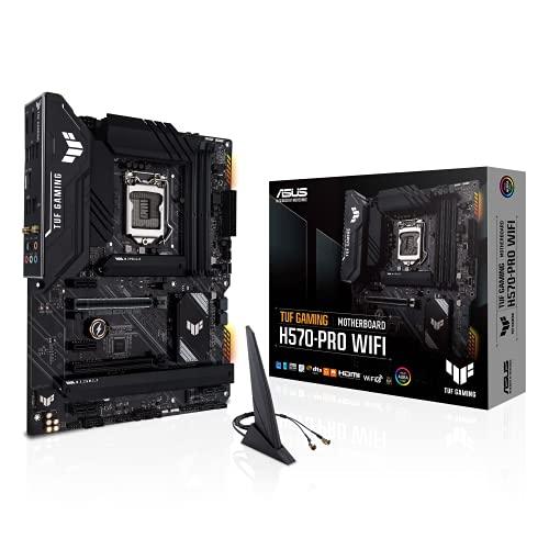ASUS TUF GAMING H570-PRO WIFI, Scheda madre ATX, Intel H570 LGA 1200 con VRM DrMOS 8+1 fasi, PCIe 4.0, 3x M.2, WiFi 6, 2.5 GB LAN, USB 3.2 Gen, 2x2 Type, Aura Sync