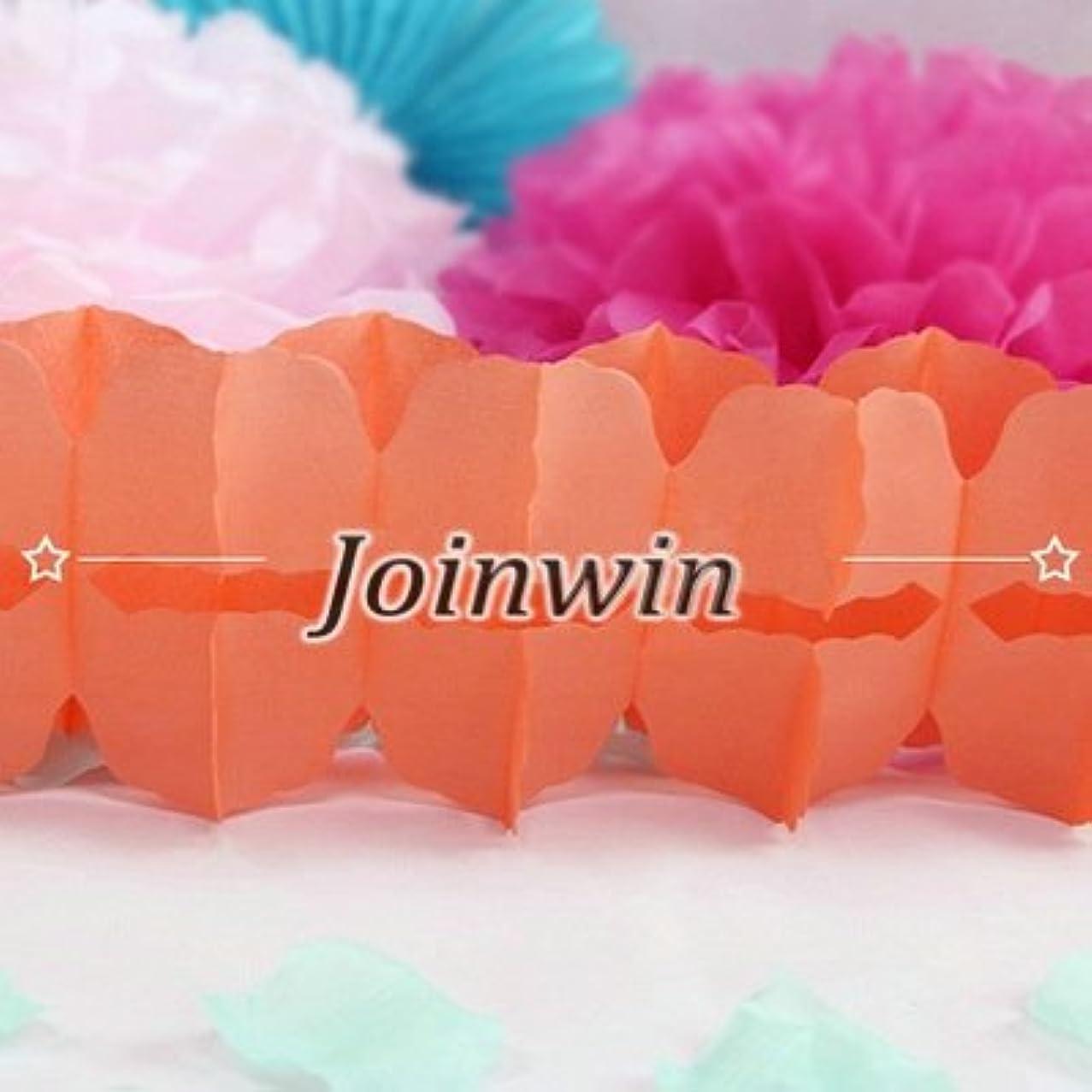 Joinwin 6Pcs Hanging Garland Four-Leaf Clover Garland Tissue Paper Flowers Garland Wedding Decor Party Decor 11.81Feet/3.6M (Peach)