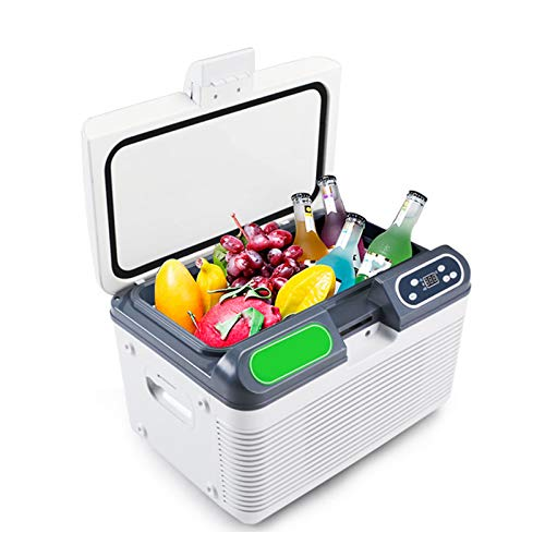 yunyun Mini Refrigerador para Coche,Nevera Portátil Eléctrica De Viaje,12L,Bloqueo De Temperatura Doble, Frescura Duradera,para Coche Y Casa