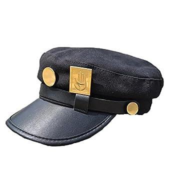 Oakamy Anime Jotaro Kujo Cap Cosplay Hat Props Baseball Peaked Cap Black