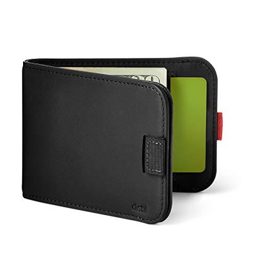 Distil Union Slim Wallets for Men with FlexLock – Minimalist Bifold Wallets with Money Clip (Ink)