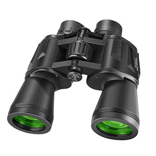 Neewer 10 x 50 Binoculares Impermeables Decon Visión Clara de Luz Débil con Prisma de Porro BAK-4 Livianos (0.77kg) Binoculares con Ocular Grande para Observación de Aves Caza