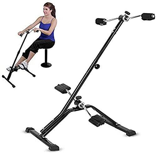 ZJDM Bicicleta estática con Pedal para Personas Mayores, Equipo de Ejercicios de rehabilitación de piernas y Brazos en el hogar, Resistencia Ajustable para Debajo del Escritorio de la Oficina