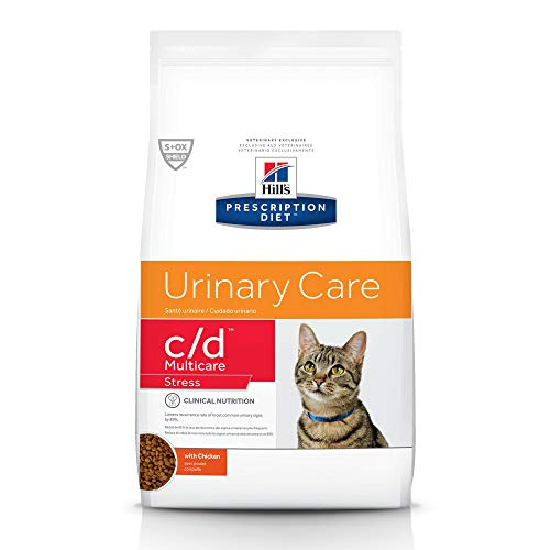 Hill's Prescription Diet c/d Multicare Stress Urinary Care with Chicken Dry cat food, 4 lb bag