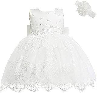 2b7bac0800eb8 AHAH Bébé Fille Robe Princesse Robe De Fille De Fleur Robe De Baptême Robe  De Fête