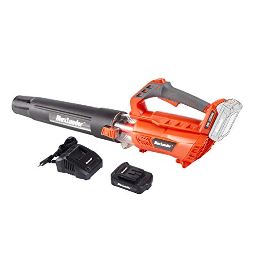 MaxLander Leaf Blower Cordless, 20V Battery Powered Leaf Blower with 2.0Ah Battery and Fast Charger,Battery Sweeper 350CFM Powerful Axial Flow High Efficiency