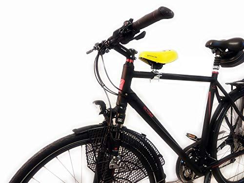 Ventura ASA DDR Zeiten Fahrrad Kindersitz - Herren Gr.2 - für vorn + Sattel Fußruhen Auswahl, Fußruhe:Einklappbar, Kids Sattel:Schwarz - Velo