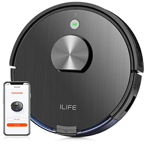 ILIFE A10 Lidar Robot Vacuum,Smart Laser Navigation and Mapping,2000Pa Strong Suction,Wi-Fi Connected,Multiple-Floor Mapping,2-in-1 Roller Brush, for Hard Floors to Medium-Pile Carpets.