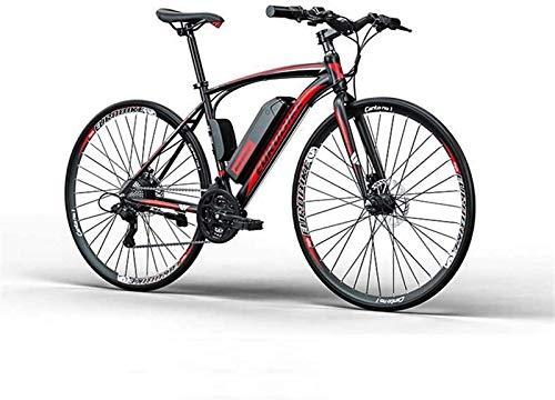 RDJM Bici electrica, Adulto Bicicleta de Carretera eléctrica, batería de Litio de 36V, de Peso Ligero de Alto carbón Marco de Acero, 27 de Velocidad E-Bikes (Color : A, Size : 35KM)