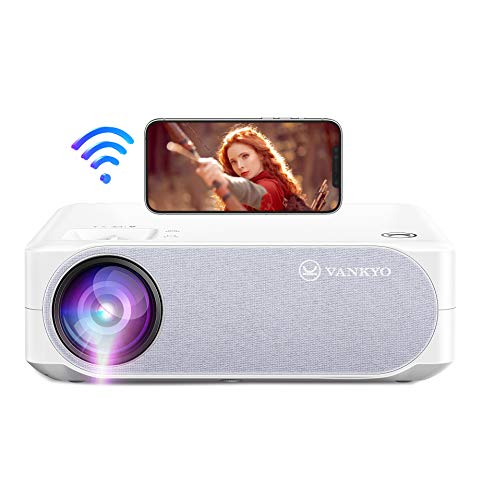"""VANKYO 5G WiFi Projector, 2021 Upgraded Native 1080P Projector 300"""" Display, 5G Synchronize Smartphone Screen, Support 4K, Compatible with PS5, TV Stick, iOS & Android"""