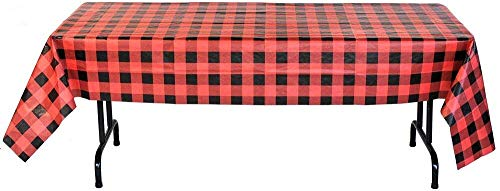 Buffalo Check Table Cover (54' x 108' Paper) Water and Tear Resistant, Buffalo Plaid Party Collection by Havercamp