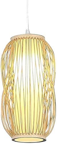 Rekaf Colgando Luz Pastoral Ratán Bambú Chandelier Bambú Trabajo Hand Hecha Hand Teahouse Restaurante Suspensión Iluminación Retro Japonés Estilo E27 Araña Colgando Luz Light Lighting Fijado