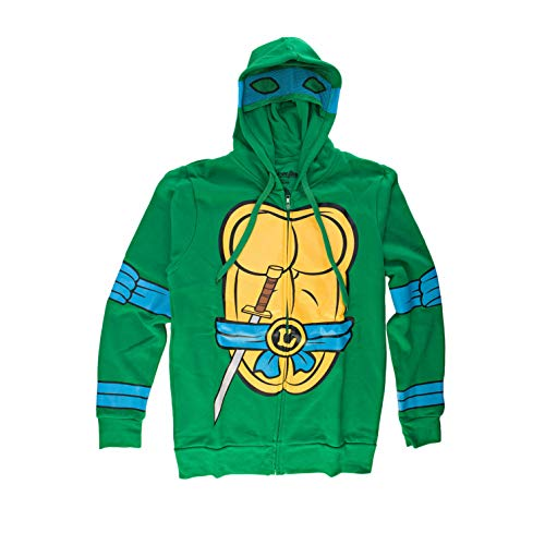 Teenage Mutant Ninja Turtles I Am Leonardo Herren Zip-Up Kostüm Kapuzenpullover | S