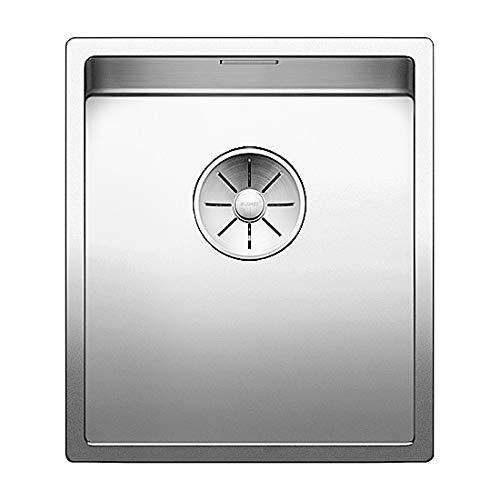 Blanco 521571Claron Cocina Fregadero empotrable 340de U de acero inoxidable para la cocina, acero inoxidable seda brillo