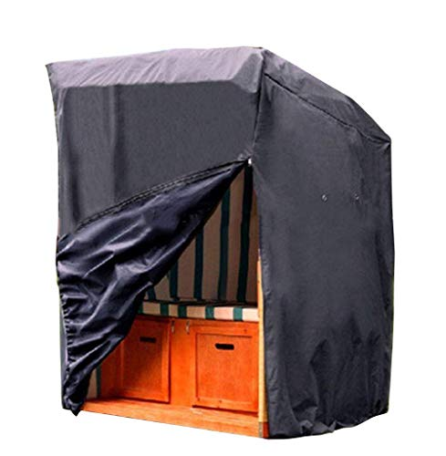 LHR dekzeil waterdicht zware Oxford doek outdoor tuinmeubelen waterdichte stofkap tuintafel en stoelen balkon houten frame dekzeil zonwering cover 135 X 105 X175cm zwart