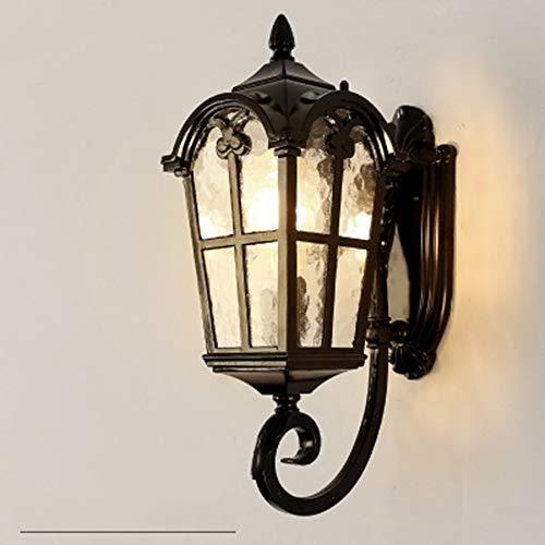 Europese waterdichte wandlamp buiten, oude Romeinse retro waterdichte tuin-landhuis-deur-balkon buitenshuis mooie decoratieve lamp