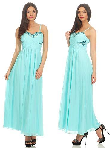 jane norman Damen Kleid (lang) 39458, Gr. 38, Blau (Aqua)