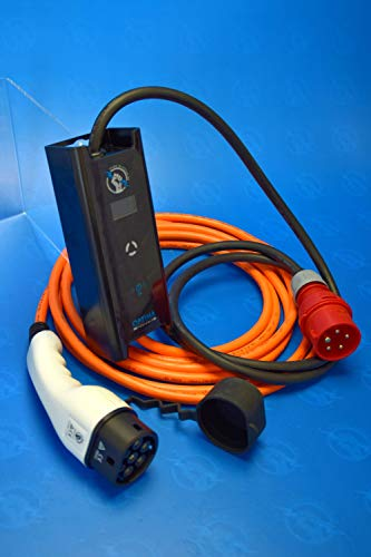 11 kw. Ladegerät/Mobil - Wallbox (1,5 Meter Zuleitung 16A CEE / 5,0 Meter Typ 2 Ladekabel)