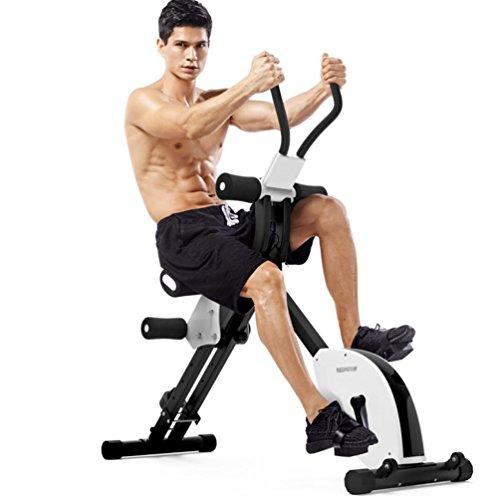 YDSP Multifunktional Fitness Fahrrad mit Profi Bauchtrainer,5-facher Schwierigkeitsgrad, Zusammenklappbar mit Trainingscomputer Achterbahn Bauchmaschine Bauchgerät Haushalt Übung Bauchtraining