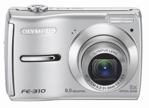 OM Digital Solutions FE-310 8MP Digital Camera with 5x Optical Zoom (Silver)