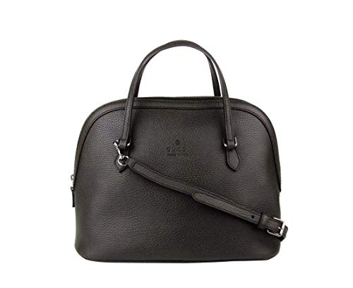 Made of Leather, Top zip closure, Two Interior Slip Pockets Detachable shoulder strap; Handle drop 4 inches Measurements: 12 L x 9.5 H x 6 W inches; Shoulder strap drop 17-19 inches Original Gucci tags, dust bag and authenticity cards included Made i...