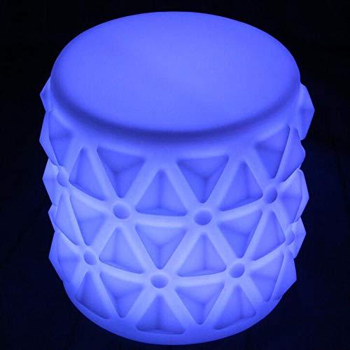 GGKLY Led-kubuskruk, verlichting, loungemeubel, bijzettafel, lounge-/cocktailstoel, 7 lichtwisselmodi